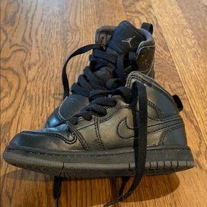 Black High Top Air Jordans